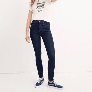 "Madewell 10"" High-Rise Skinny Jeans  Lucille Wash"